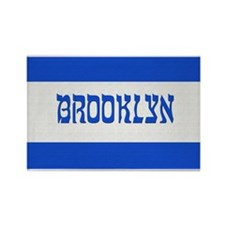 Israeli Brooklyn Flag - Rectangle Magnet