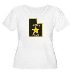 Genola Police Women's Plus Size Scoop Neck T-Shirt
