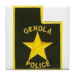 Genola Police Tile Coaster