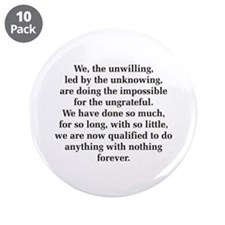 """We The Unwilling 3.5"""" Button (10 pack)"""