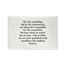 We The Unwilling Rectangle Magnet (10 pack)