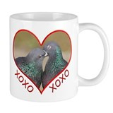 Pigeon Hugs and Kisses Small Mugs