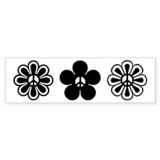 Peace Flowers Bumper Bumper Sticker