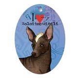 Xoloitzcuintli Oval Ornament