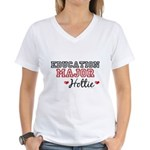 Education Major Hottie Women's V-Neck T-Shirt