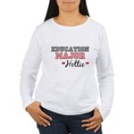 Education Major Hottie Women's Long Sleeve T-Shirt