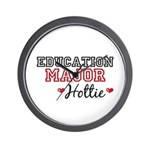 Education Major Hottie Wall Clock