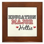 Education Major Hottie Framed Tile