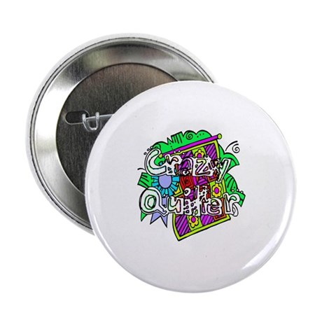 "Crazy Quilter 2.25"" Button"