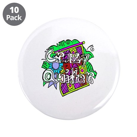 "Crazy Quilter 3.5"" Button (10 pack)"