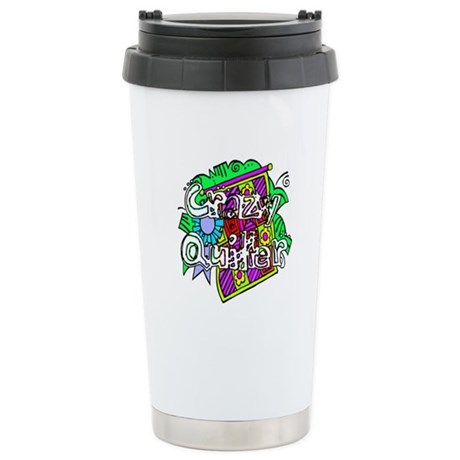 Crazy Quilter Ceramic Travel Mug
