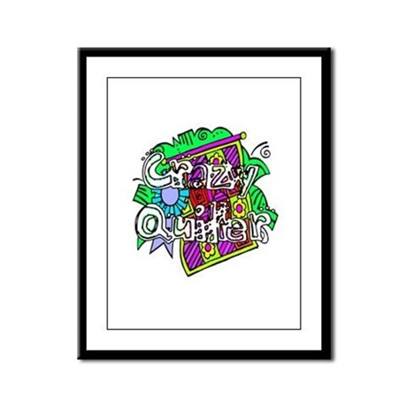 Crazy Quilter Framed Panel Print