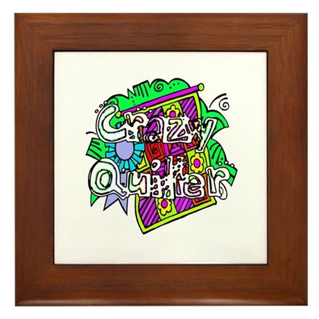 Crazy Quilter Framed Tile