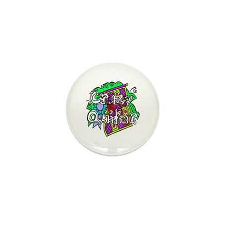 Crazy Quilter Mini Button