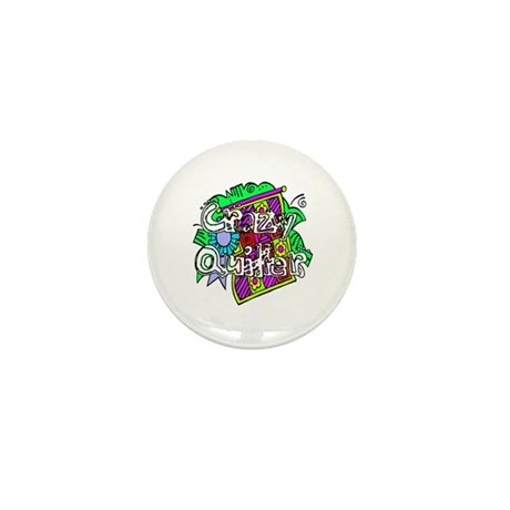 Crazy Quilter Mini Button (100 pack)