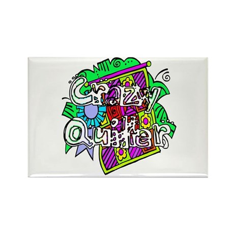 Crazy Quilter Rectangle Magnet (100 pack)