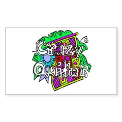 Crazy Quilter Rectangle Sticker 50 pk)
