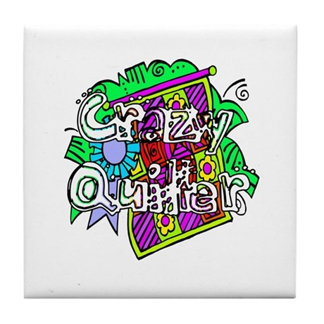 Crazy Quilter Tile Coaster
