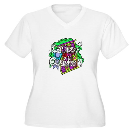 Crazy Quilter Women's Plus Size V-Neck T-Shirt