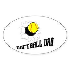 Softball Dad Oval Decal