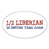 Half Liberian Oval Decal