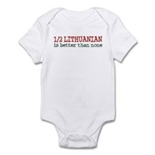 Half Lithuanian Infant Bodysuit