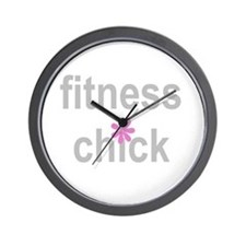 Fitness Chick Wall Clock