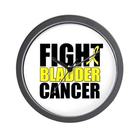 Fight Bladder Cancer Wall Clock