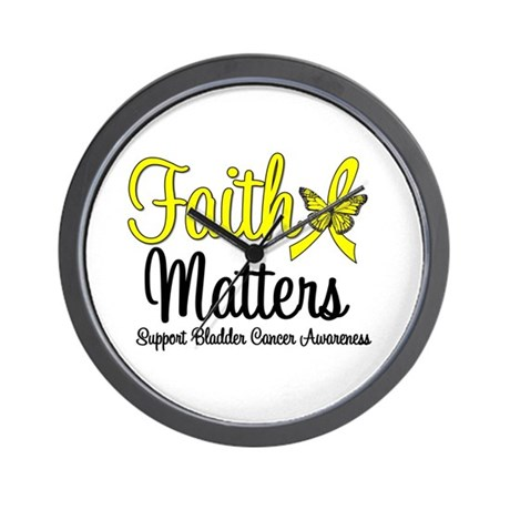 FaithMatters Bladder Cancer Wall Clock