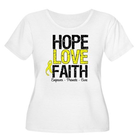 HopeLoveFaith BladderCancer Women's Plus Size Scoo