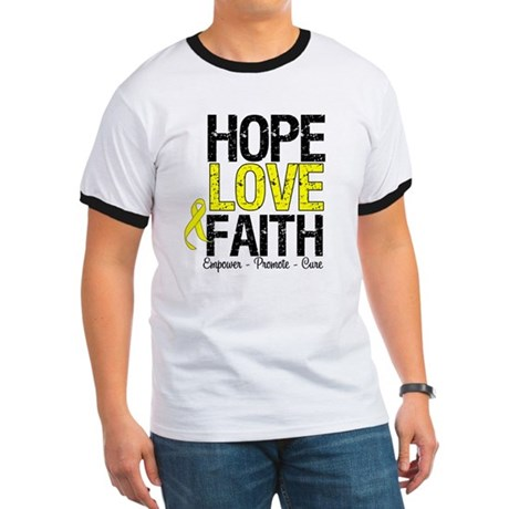 HopeLoveFaith BladderCancer Ringer T