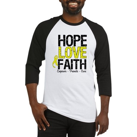 HopeLoveFaith BladderCancer Baseball Jersey