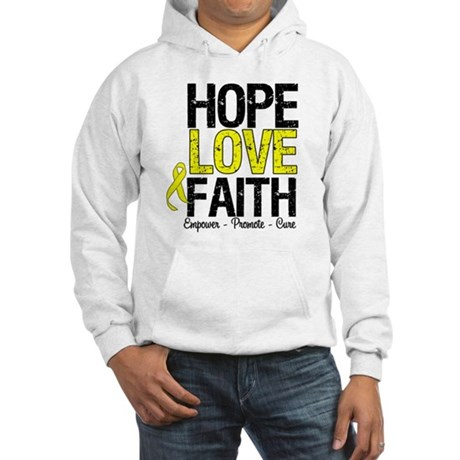 HopeLoveFaith BladderCancer Hooded Sweatshirt