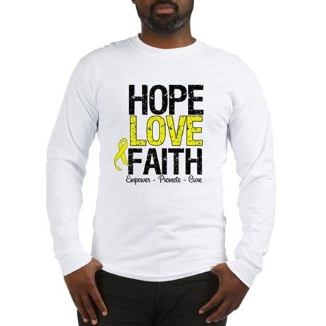 HopeLoveFaith BladderCancer Long Sleeve T-Shirt