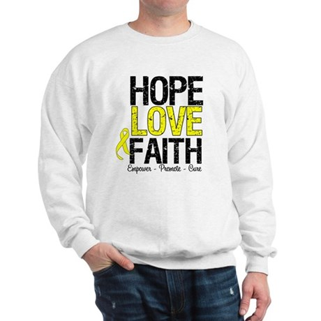 HopeLoveFaith BladderCancer Sweatshirt