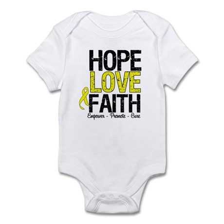 HopeLoveFaith BladderCancer Infant Bodysuit