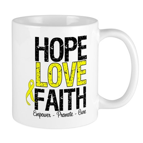 HopeLoveFaith BladderCancer Mug