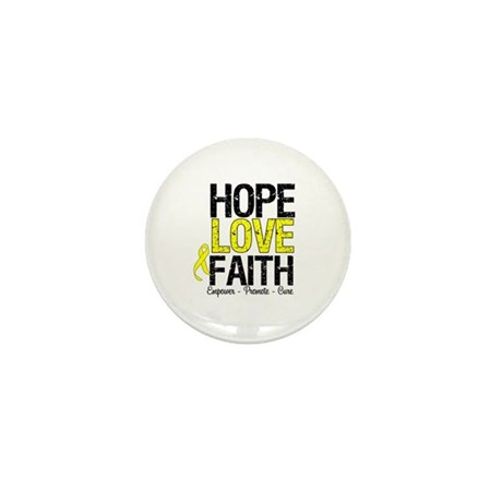 HopeLoveFaith BladderCancer Mini Button (10 pack)