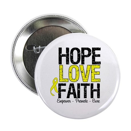 "HopeLoveFaith BladderCancer 2.25"" Button (10 pack)"