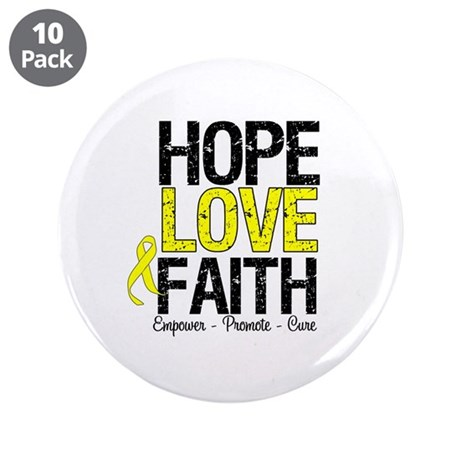 "HopeLoveFaith BladderCancer 3.5"" Button (10 pack)"