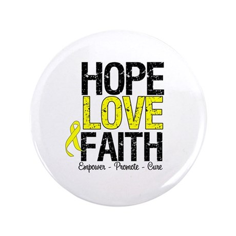 "HopeLoveFaith BladderCancer 3.5"" Button"
