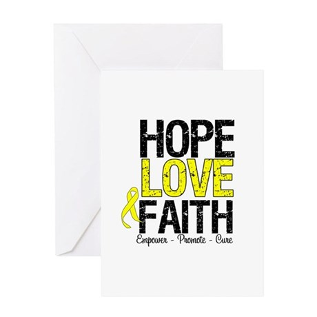 HopeLoveFaith BladderCancer Greeting Card