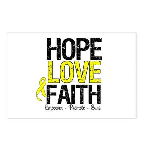 HopeLoveFaith BladderCancer Postcards (Package of
