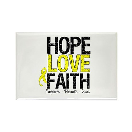 HopeLoveFaith BladderCancer Rectangle Magnet