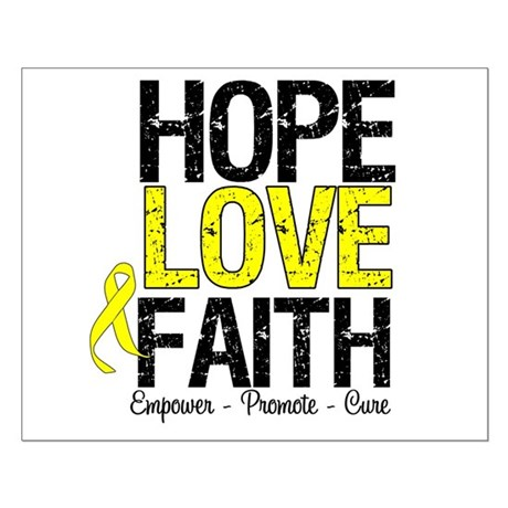 HopeLoveFaith BladderCancer Small Poster
