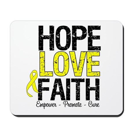 HopeLoveFaith BladderCancer Mousepad