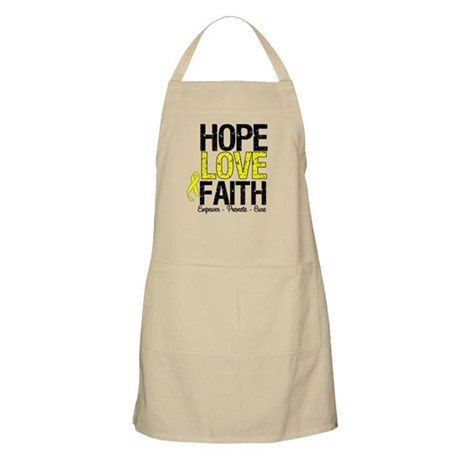 HopeLoveFaith BladderCancer BBQ Apron