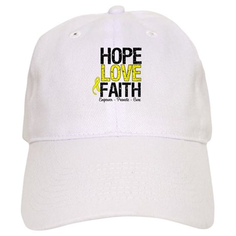 HopeLoveFaith BladderCancer Cap