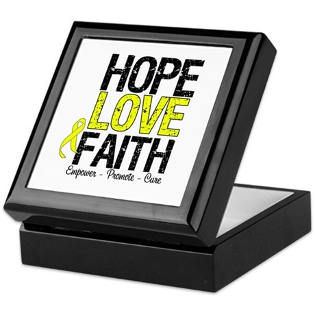 HopeLoveFaith BladderCancer Keepsake Box