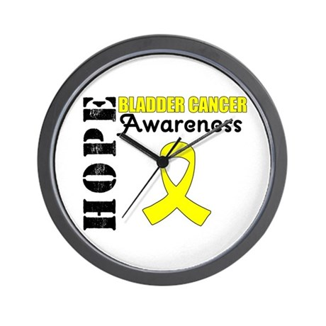 Hope Bladder Cancer Wall Clock